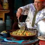 Mouna à la cuisine, gite-Ourthane