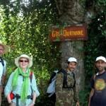Visiteurs randonneurs au gite-Ourthane