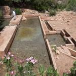 La source, bassin de partage près d'Ourthane