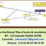 le pla d'accès du gite-ourthane