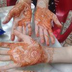 Séance de henné au gîte Ourthane