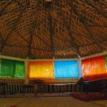 A l'intérieur du dôme du gite ourthane